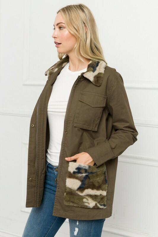 Camo Fur Jacket