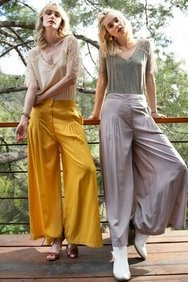 Ruched Wide Leg Pants
