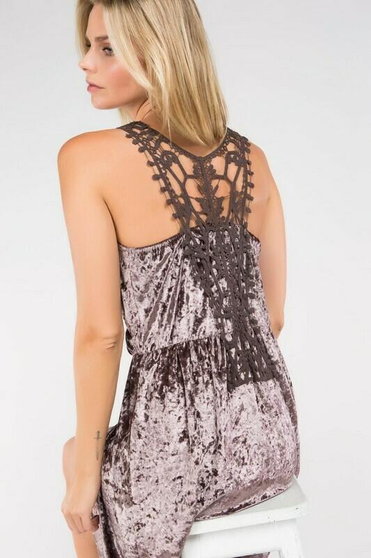 Velvet Surplice Dress