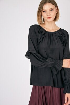 Ruffled Peasant Blouse