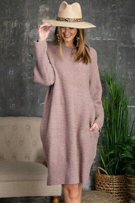 Talk All Night Sweater Dress