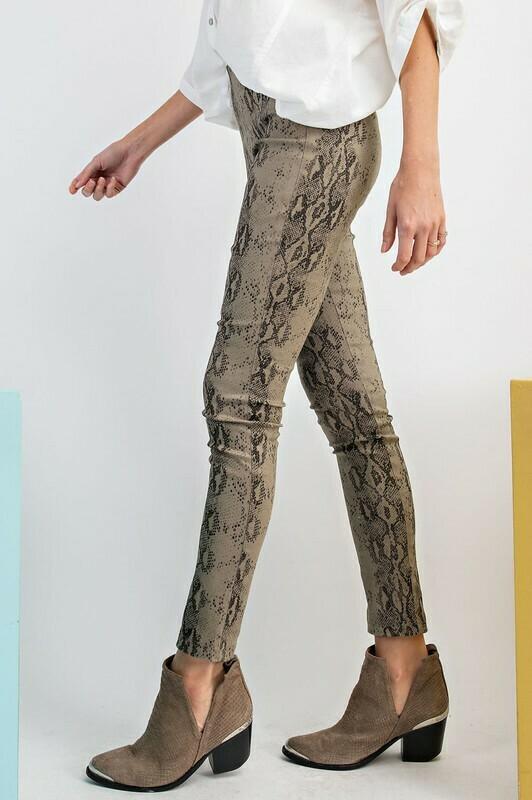 Snake Skin Printed Skinny Pants
