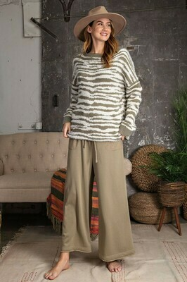 Zebra Oversized Mohair Sweater