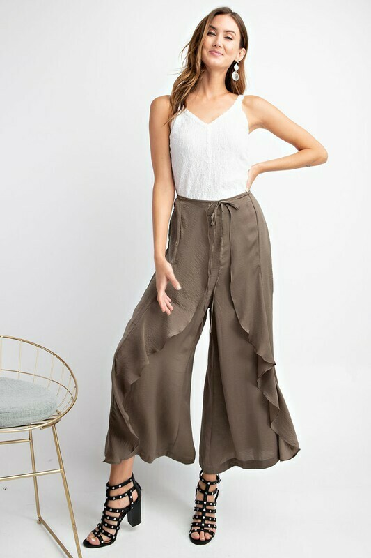 After Hours Satin Tulip Pants