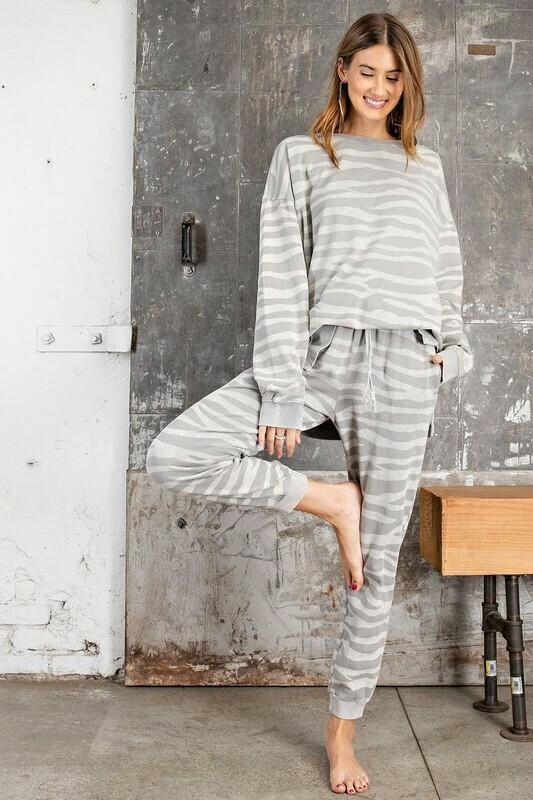 Zebra Print Jogger Pants
