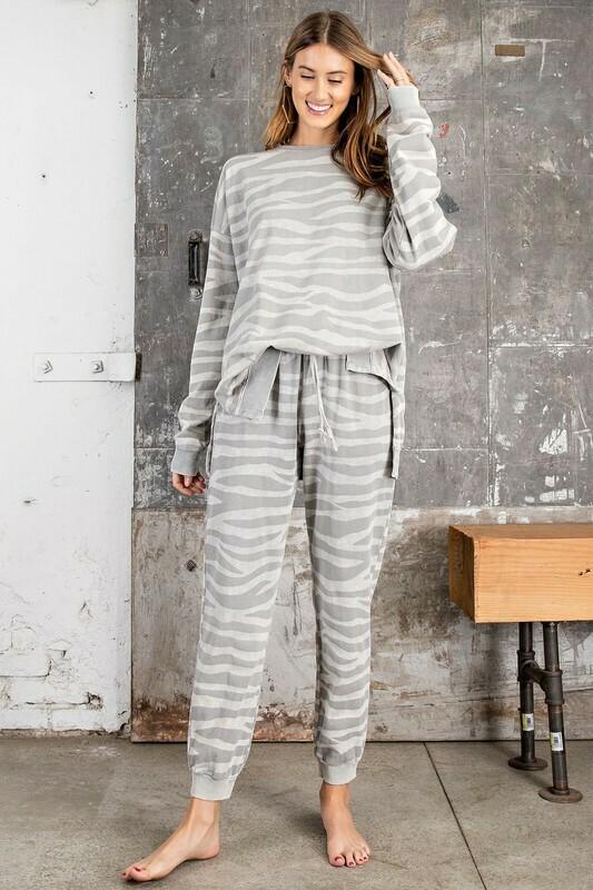Boxy Zebra Sweater