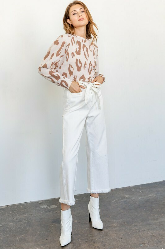 Soft And Cozy Animal Print Top