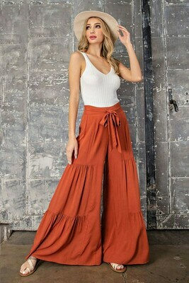 Wide Leg Tiered Pants