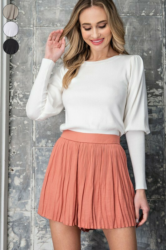 Flowy Pleated Skort