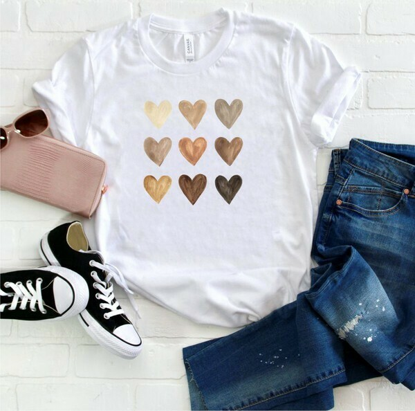 Water Color Valentine Tee