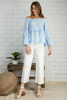 Tiered Bell Sleeved Blouse