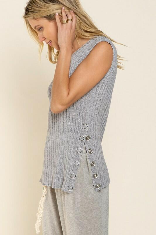 Ribbed Sleeveless Sweater