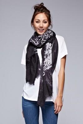 Oversized Batik Print Scarf