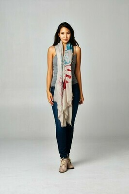 Oversized Printed Scarf
