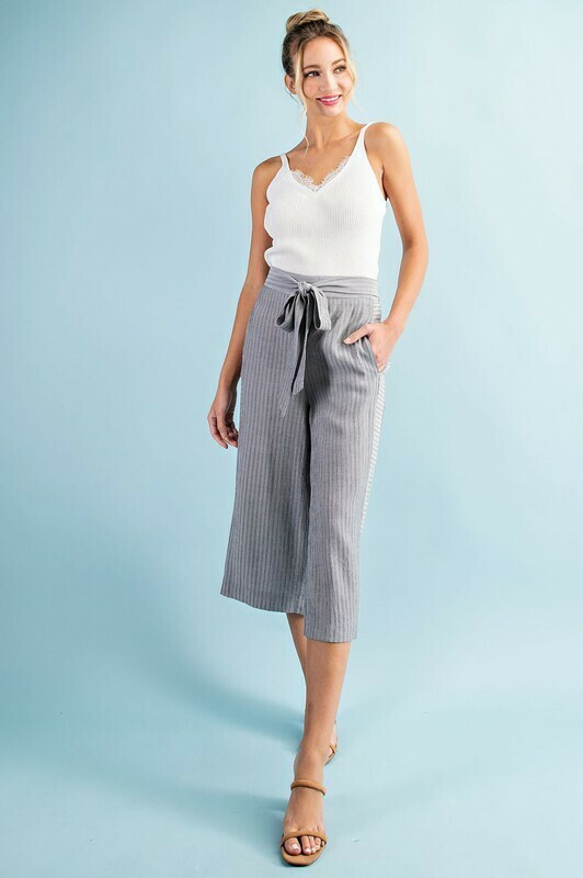 Pin Striped Culotte Pants