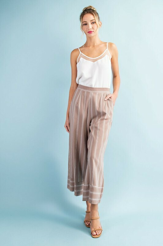 Pin Stripe Wide Leg Pants