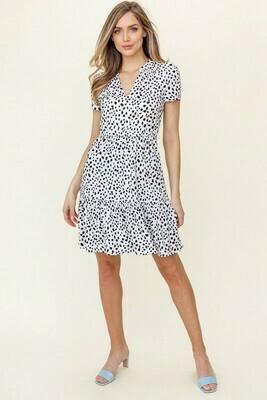 Short Sleeved Ruffle Dress