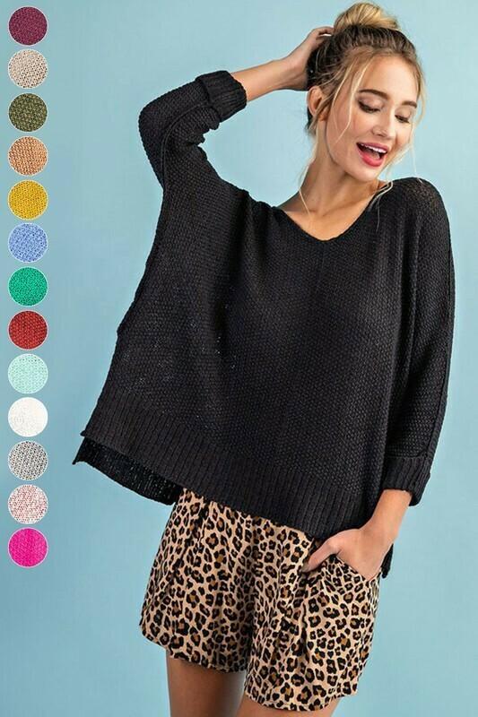 It's A Breeze Sweater Knit Top