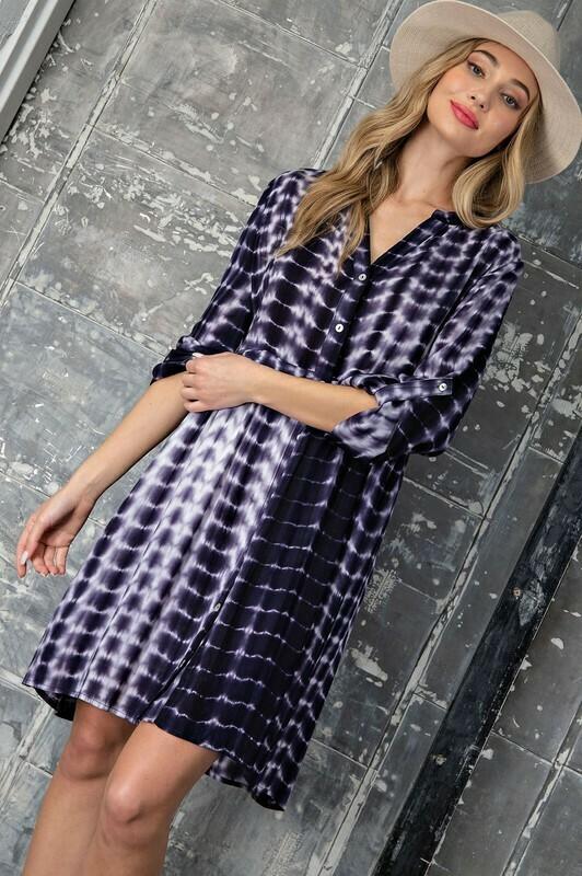 Tie-Dye Button Down Dress