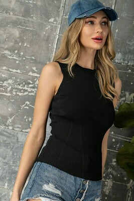 Sleeveless Bodycon Tank Top