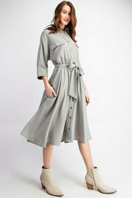 Lady Jane Button Down Midi Dress