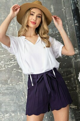 Linen Tie Waist Shorts