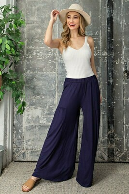 Soft Wide Leg Tiered Pants