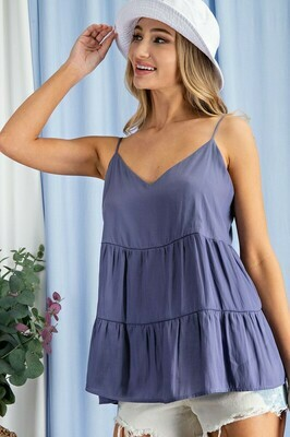 Silky Tiered Tank