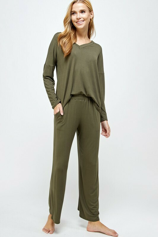 Luxe Olive Lounge Set