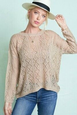 Eyelet Knit Sweater