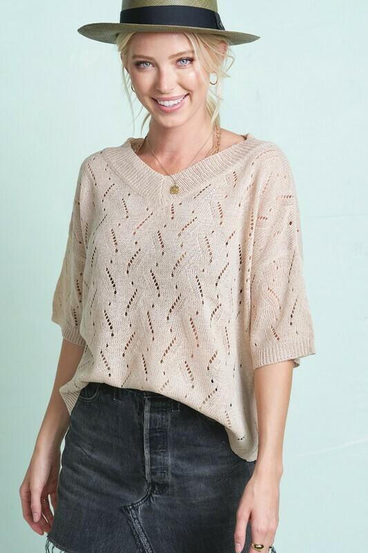 Open Stitch Summer Sweater