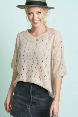 Open Stitch Summer Sweater