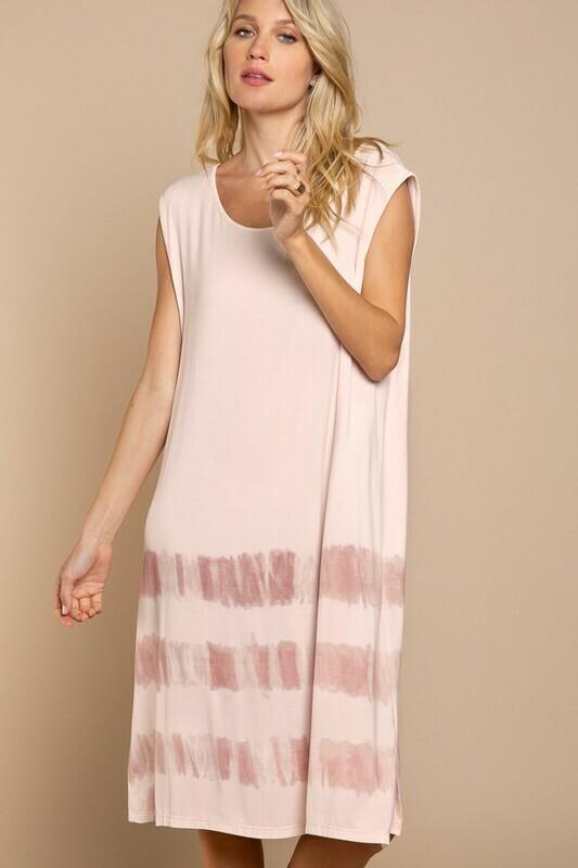 Striped Ombre Sleeveless Dress