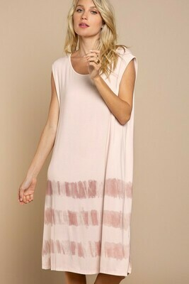 Striped Ombre Sleeveless Dress