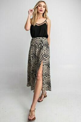 Zebra Print Maxi Skirt