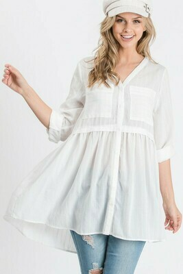 White Woven Tunic