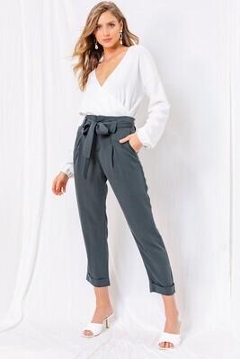 Cuffed Cropped Dress Pants