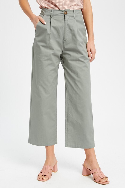 Lightweight Cropped Career Pants