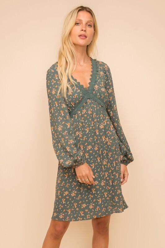 Crochet Lace Babydoll Dress