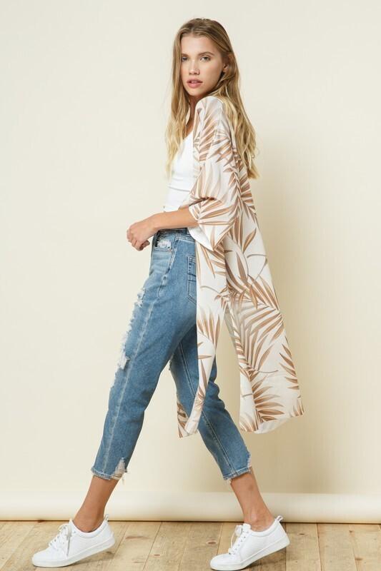 Knit Kimono Style Duster