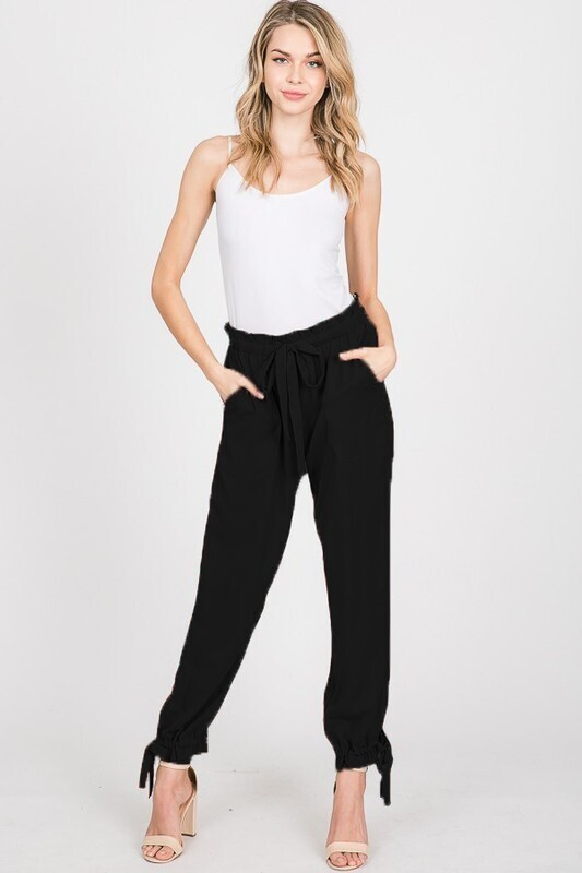 Silky Twill Paper Bag Pants
