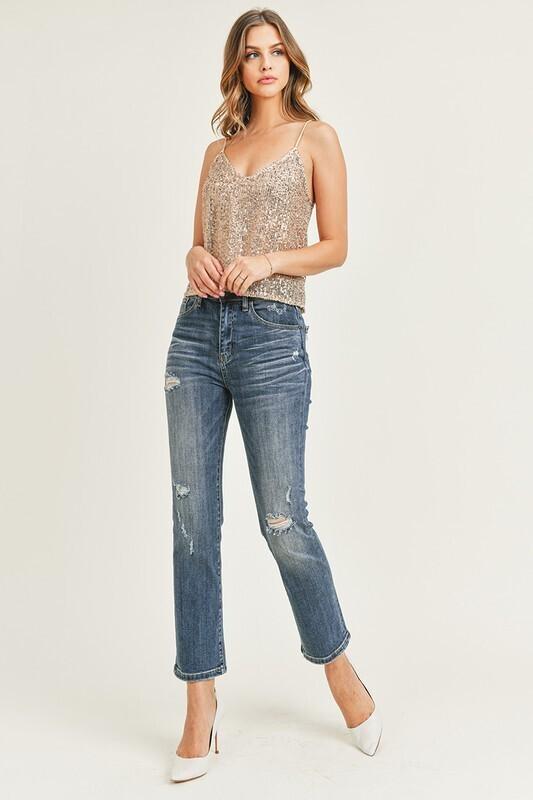 High Rise Vintage Washed Jeans