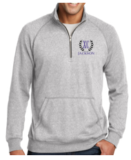 Men's 1/4 Zip in Heather gray