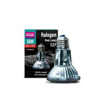 Arcadia Halogen Heat Lamp-50 Watt