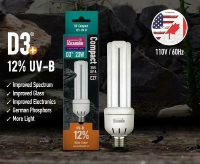 Arcadia D3 12% UVB Compact Bulb - 23W