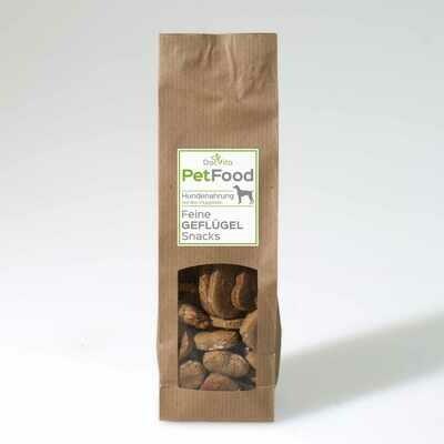 PetFood I Geflügel Snacks I Leckerli mit Bio Vitalpilzen 100 g