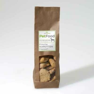 PetFood I Karotten Snacks I Leckerli mit Bio Vitalpilzen 100 g