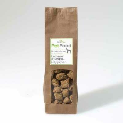 PetFood I Leckere Rinder Häppchen mit Vitalpilzen 100 g