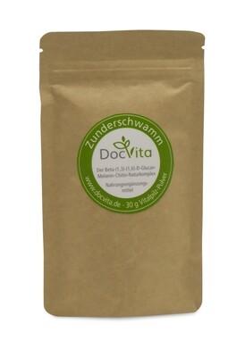 DocVita Zunderschwamm Vitalpilz-Pulver 30 Gramm I Nachfüllpackung