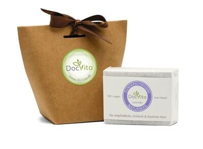 DocVita Naturseife Lavendel mit Zunderschwamm Extrakt  100 g inkl. Verpackung